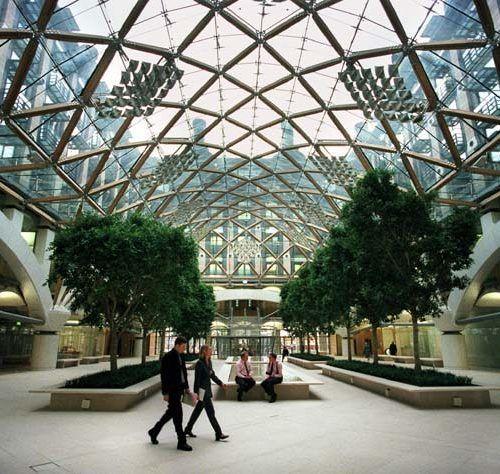 Interior Atrium of Portcullis House in Westminster, London, UK