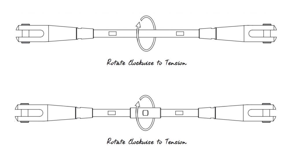 adjusting your tension rod system