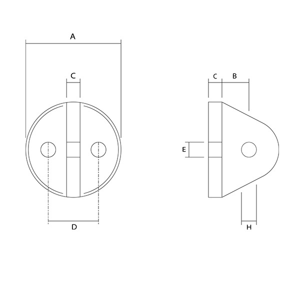 Sta-Lok Fork Fixing Plate Dimensions