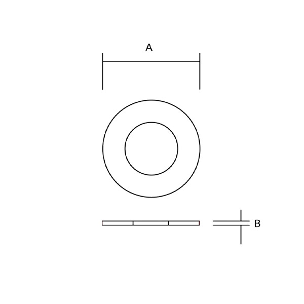 Stainless Washer Dimensions